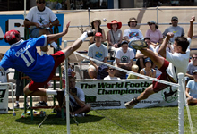 Emmanuel Bouchard at the 2002 world footbag championship