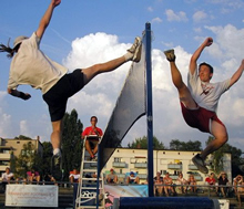 Emmanuel Bouchard at the 2006 world footbag championship