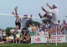 Emmanuel Bouchard at the 1999 world footbag championship