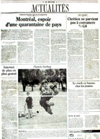 Emmanuel Bouchard in Le Devoir, Montreal, July 2, 2000